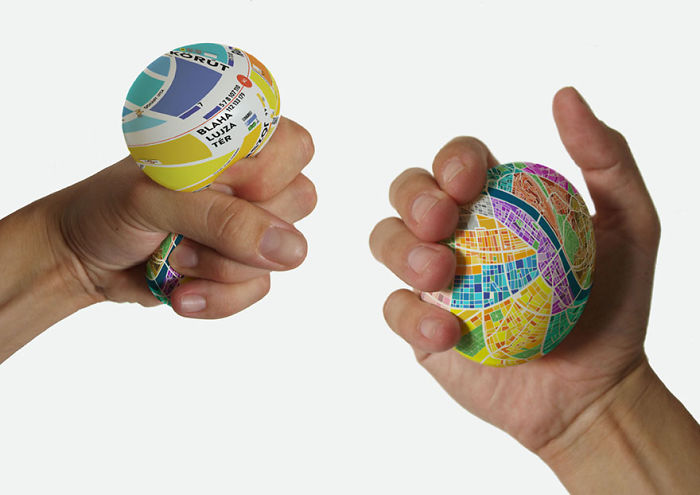 Stress Ball Map Which Zooms In When You Squeeze It