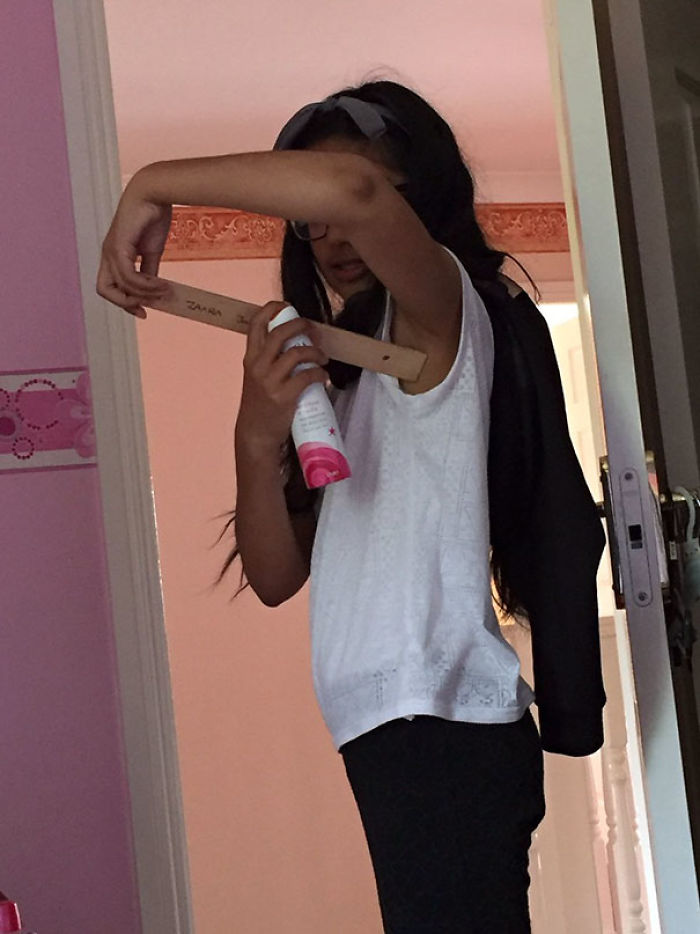 When Your Sister Uses Deodorant For The First Time And Gets The Ruler Out Cos