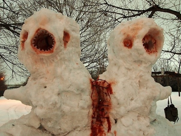 Creepy Horror Snowmen That Take Winter To The Next Level - 18 creepy horror snowmen will take winter next level