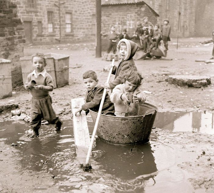 Children Playing In The Housing Slums Of Gorbals District, South Bank Of The River Clyde, Glasgow, 1960s