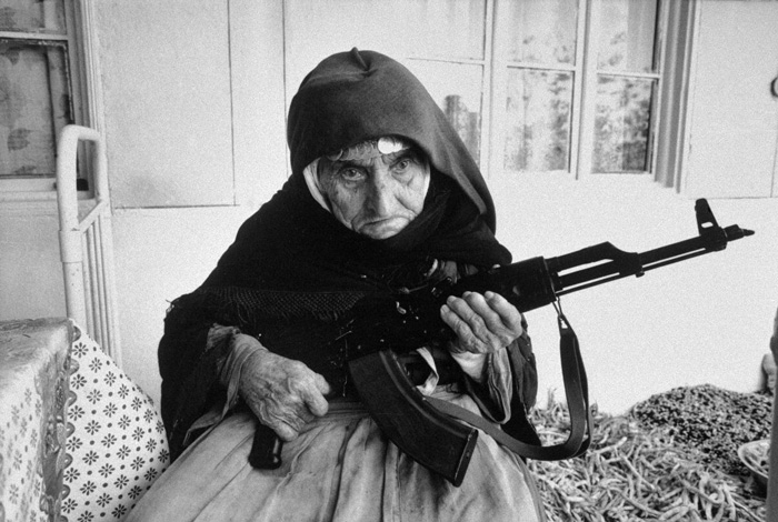 A 106-Year-Old Woman Who Protected Her Home With A Rifle, In Armenia (1990)