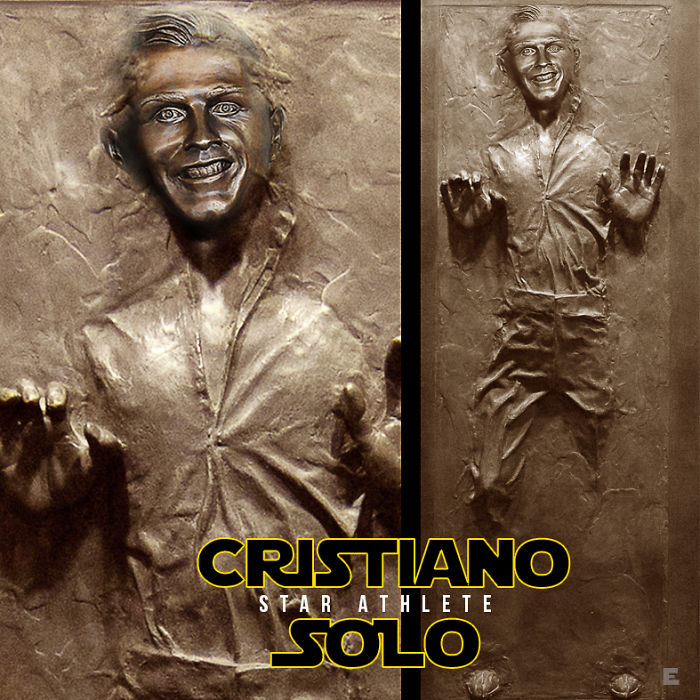 Star Wars The Cristiano Solo In Carbonite Wall