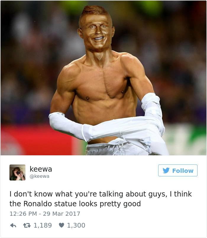 Cistiano Ronaldo Statue Fail