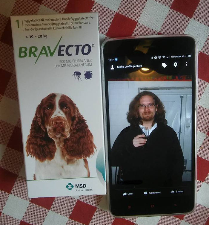 We Were Looking Through Old Pictures Of Me When My Wife Started Laughing And Got The Dog's Flea Pills From The Cupboard