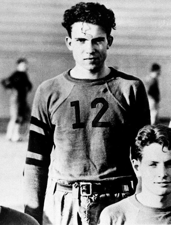 Richard Nixon Is Shown As A Member Of The Whittier College Football Squad In Whittier, CA, 1930s