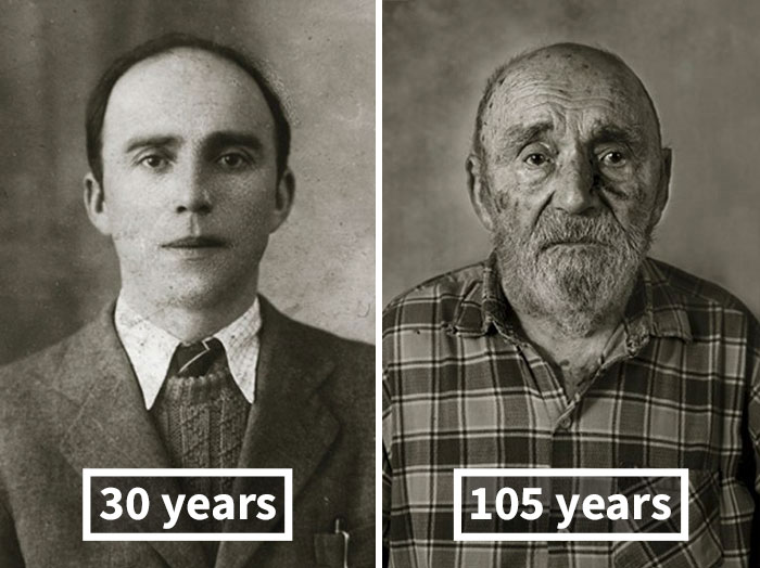 Vincenc Jetelina, 30 Years Old (Finished His House), 105 Years Old