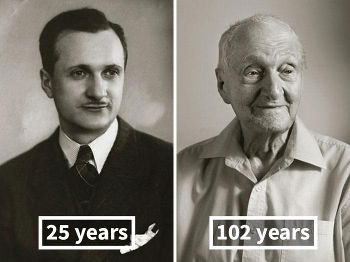 Antonín Kovář, 25 Years Old (Bandmaster Of His Own Band), 102 Years Old