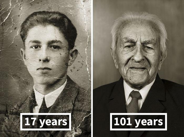 Antonín Baldrman, 17 Years Old (Skilled Locksmith), 101 Years Old