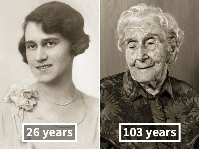 Bedřiška Köhlerová, 26 Years Old (Wedding), 103 Years Old
