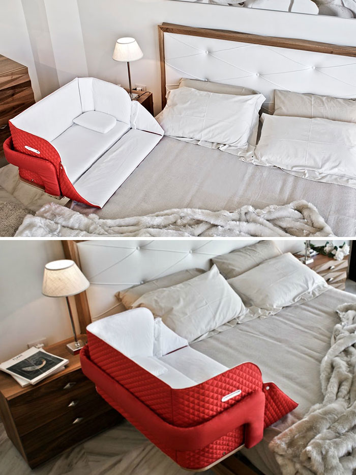 Portable Baby Crib You Can Attach To Your Bed