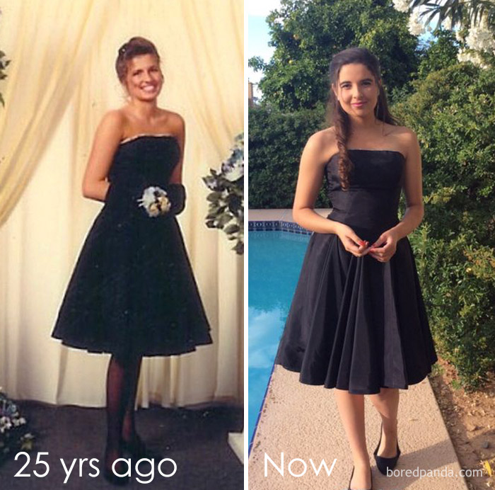Wearing My Mom's Prom Dress 25 Years Later!