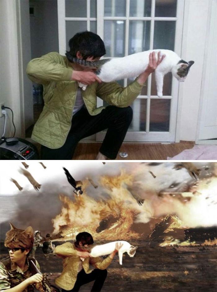 Please Make It Look Like I'm A Hero In A War Battle