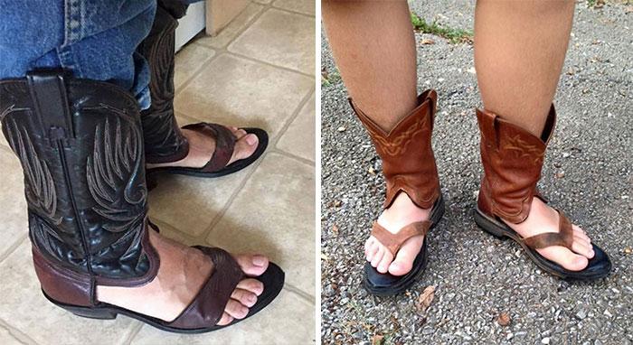 Cowboy Boot Sandals
