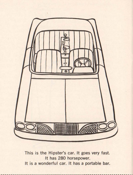 Color Me Hip The Hipster Coloring Book 1962
