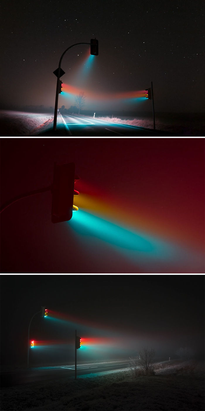 Traffic Light Long Exposure