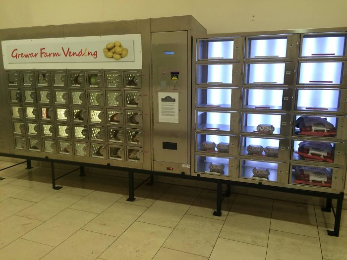 Local Farmer Has A Vending Machine In Our Mall