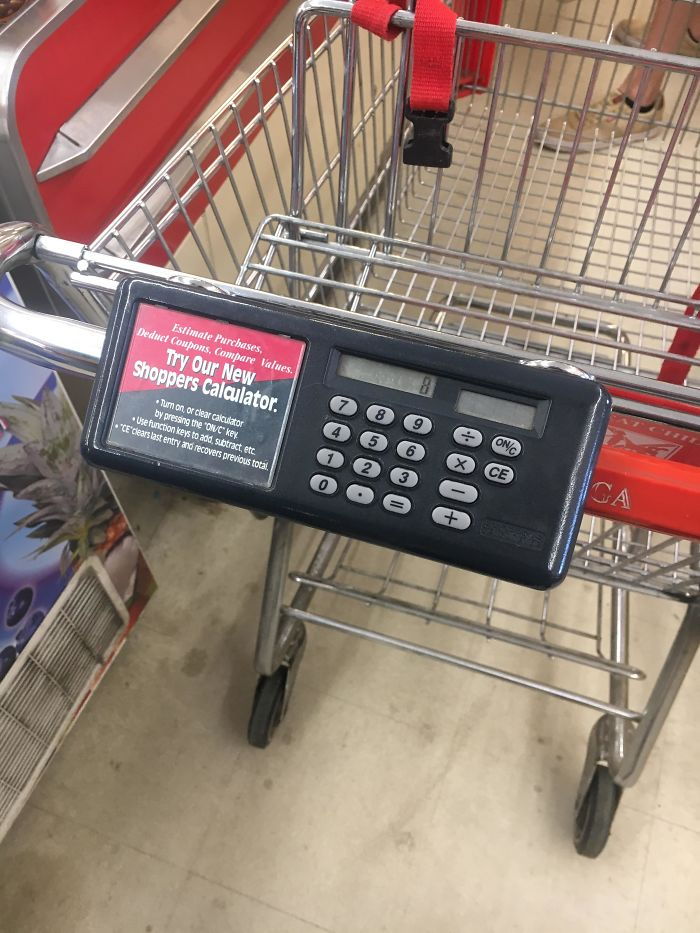 Shopping Carts In This Store Have Calculators