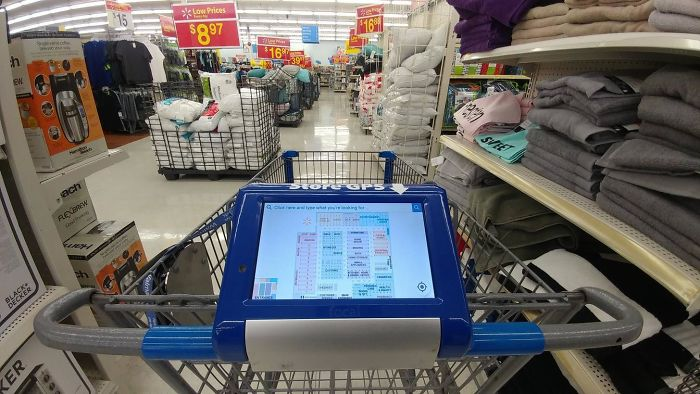 My Walmart Shopping Cart Has A Store Gps Attached To It