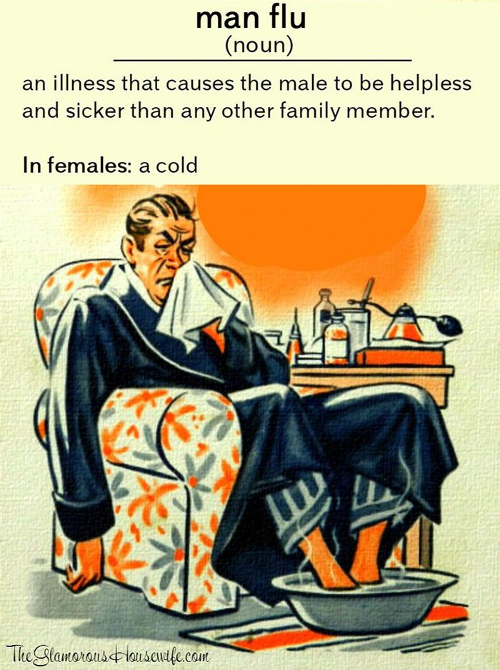 funny sick husbands memes jokes you'll only find funny if your spouse is the worst at coping with a cold