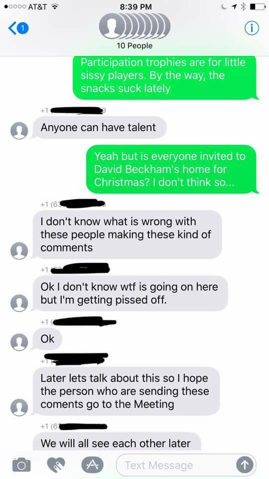 some soccer moms accidentally added a stranger to their group text and he decided to troll them all 24 Some soccer moms accidentally added a stranger to their group text, and he decided to troll them all