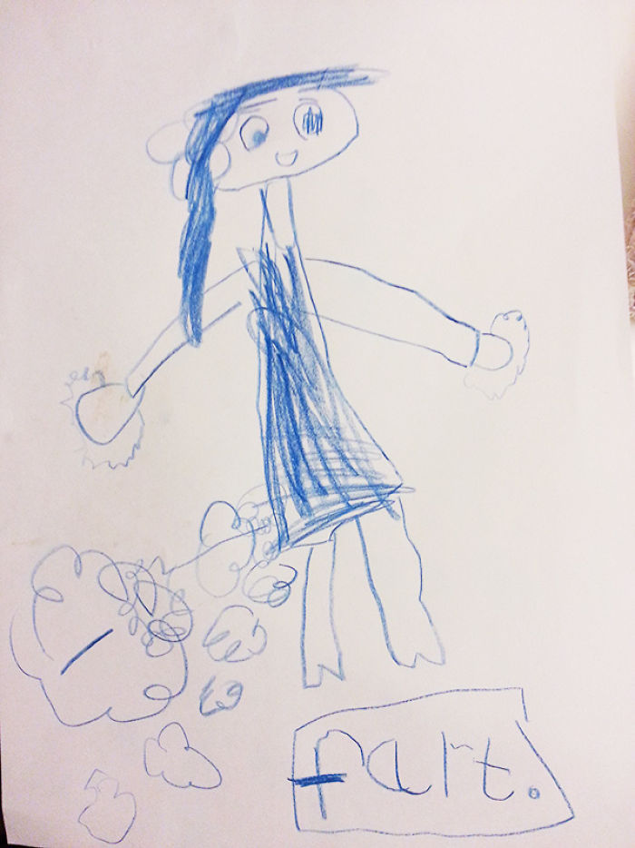 My Cousins First Drawing Of Her Mum (She's 5)