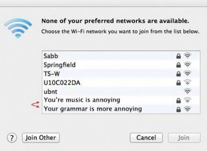 Can't Beat A Bit Of Passive-Aggressive Wi-Fi Naming