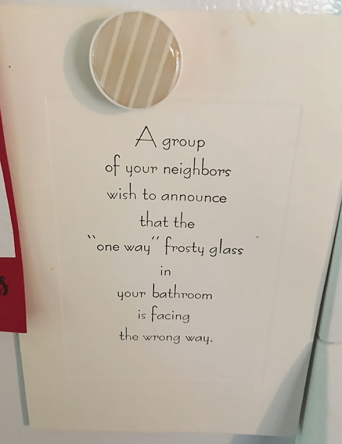 My Sister And Her Husband Live In A Small Town, They Came Home To This Note On Their Door
